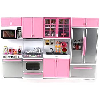 Amazon Com Deluxe Modern Kitchen Battery Operated Toy
