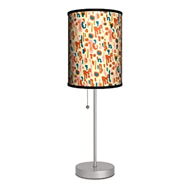 Lamp-In-A-Box SPS-FAR-JDRET Featured Artists - Jules Davis  Retro Abstract  Sport Silver Lamp