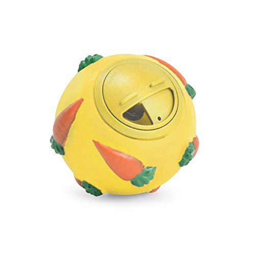 - Ancol Pet Products Just 4 Pets Small Animal Treat And Activity Ball (One Size) (Yellow)