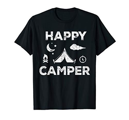 Happy Camper T-Shirt Camping Gift Shirt