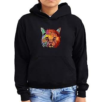 Cat cool design Women Hoodie