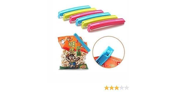 Takestop® - Set de 5 pinzas para cerrar paquetes, envases y bolsas