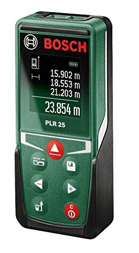 93 opinioni per Bosch 0603016200 PLR-25 Misuratore Distanze a Laser, Nero/Verde