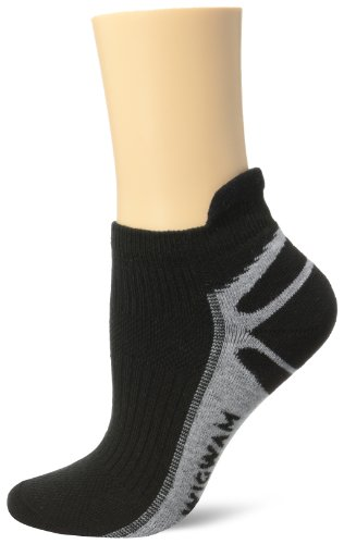 Wigwam Women's Ironman Thunder Pro Low Cut Ultimax Running Sock, Black, Medium