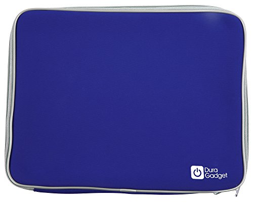 DURAGADGET Water-Resistant Blue Protective Cover with Dual Zips for Samsung NP532U3C-A01FR Ultra i3-2365M, Series 5 535U3C A02 13.3-inch Sleekbook - (AMD A6 4455M 2.1GHz ) & Samsung Thin & Light 535U3C-A03 Notebook (AMD A4-4355M APU, AMD Radeon HD )