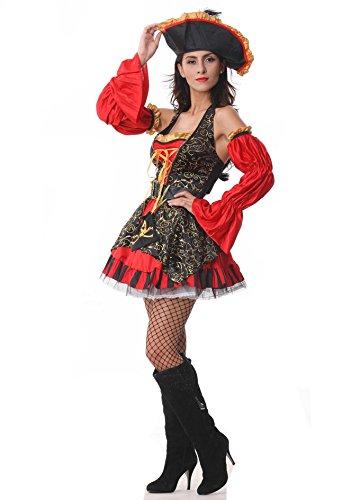 Corsair Costume (Pirate costume halloween corsair fancy dress ball 1626 (M))