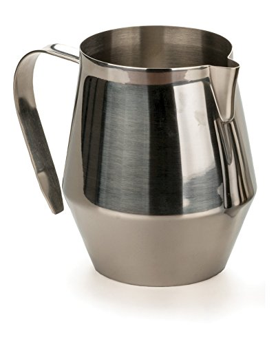 RSVP 18/8 Stainless Steel Espresso Frothing and Steaming Pitcher, 32-Ounce