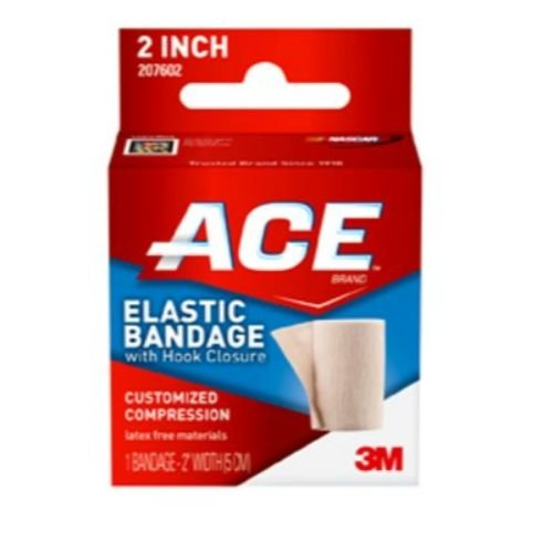 Image of Bandages & Bandaging Supplies 3M Health Care 207602 Elastic Bandage with Velcro, 2' Size, Tan (Pack of 72)