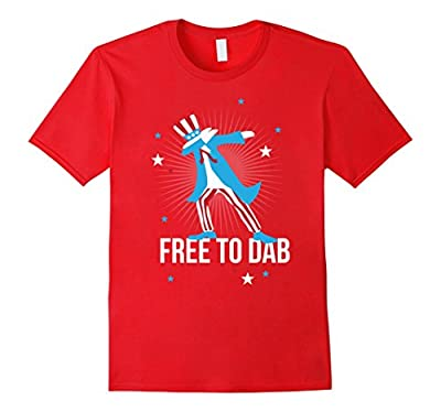 Funny 4th of July Shirt, Free to Dab Dabbing Uncle Sam Gift