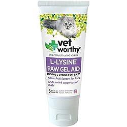 Vet Worthy Lysine Paw Gel Aid for Cats (3 oz)
