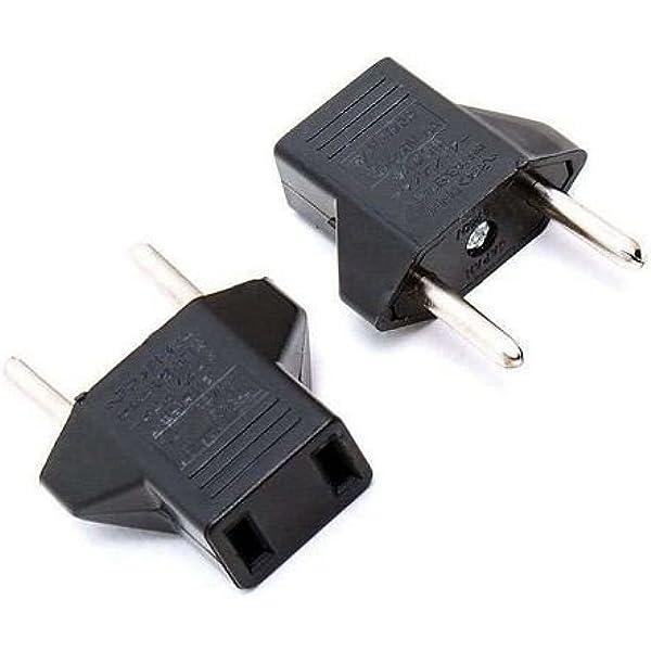 Adaptador de Enchufe de EEUU a Enchufe Europeo Negro, Cablepelado: Amazon.es: Electrónica