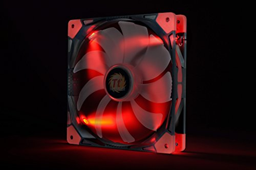 Thermaltake Luna 140mm Silent Fan Cooling CL-F022-PL14RE-A Red