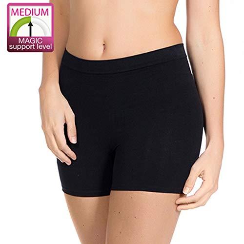 Magic BodyFashion Women's Seamless Comfort Shapewear Shorts Black Small