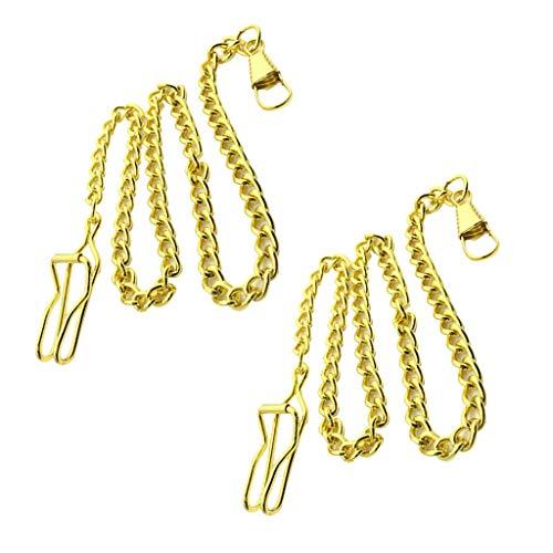 [해외]Baoblaze 지갑 체인 남자 여자 빈티지 스타일 시계 홀더 목걸이 체인 골드 / Baoblaze Wallet Chain Men Women Vintage Style Pocket Watch Holder Necklace Chain Gold
