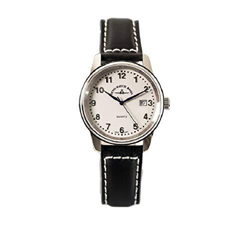 Zeno Classic Pilot Date White Dial Leather Strap Men's Watch 3315Q-E2