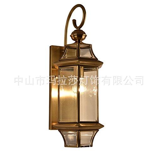 MMYNL Moderne E27 Antik Wandlampe Vintage Wandlampen Wandleuchten für Schlafzimmer Wohnzimmer Bar Flur Bad Küche Balkon Kupfer im Freien wasserdicht Wandleuchte