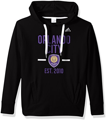 fan products of MLS Orlando City FC Adult Women Simply Put Fleece Hood, Small, Black