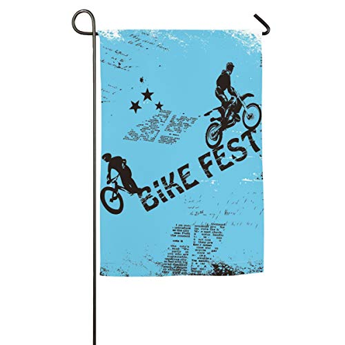 Tidyki Bike Fest Motorcycle Competition Outdoor Independence Day Garden Flag Double-Sided Decorative House Welcome Flag Banner for Home Outdoor Yard Lawn Decoration 18