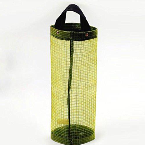 Organizador de bolsas Hanging Mesh Rubbish,STRIR 1pcs Portavasos innovador plegable, Bolsas de plástico transparente / Dispensador de bolsas de basura para ...