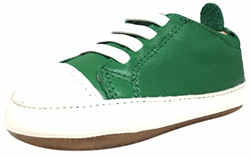 - Old Soles Girl's and Boy's Eazy Jogger Green Soft Leather Crib First Walker Balance Building Slip On Baby Shoes 19 M EU/3 M US Infant