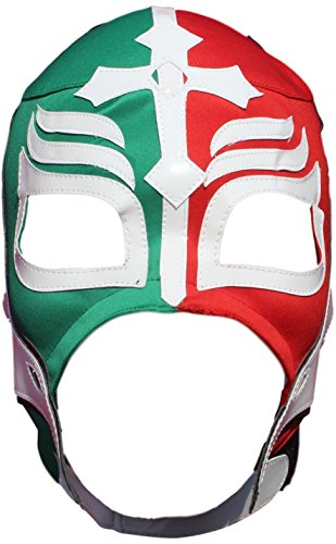 ucha Libre Luchador Mask Adult Size Multicoloured (Rey Mysterio Wrestling Mask)