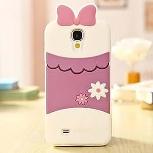3D Precioso Pato Sombra Diseño Funda de silicona para Samsung Galaxy i9500 S4 , Rosado