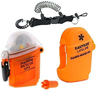 Image of Communication Devices Nautilus LifeLine Marine GPS and Silicone Pouch w/ free Coil Lanyard (Orange)