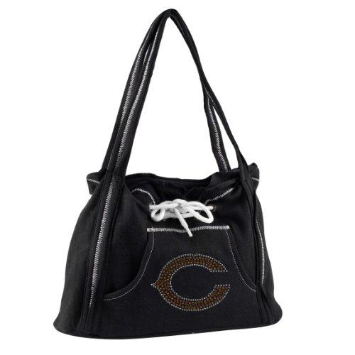 NFL Chicago Bears Sport Noir Hoodie Purse, Black