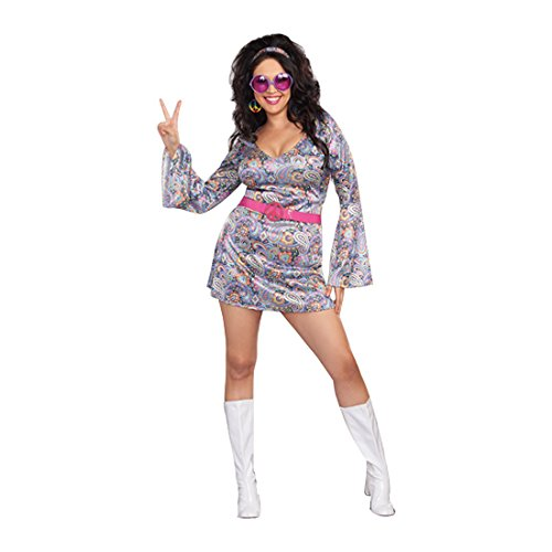 Dreamgirl Women's Plus-Size Love-Fest Costume, Multi, 1X/2X ()