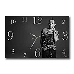 ART TIME PRODUCTION Linkin Park- Chester Charles Bennington 17 x 11 Handmade Wall Clock - Get Unique décor for Home or Office - Best Gift Ideas for Kids, Friends, Parents and Your Soul Mates