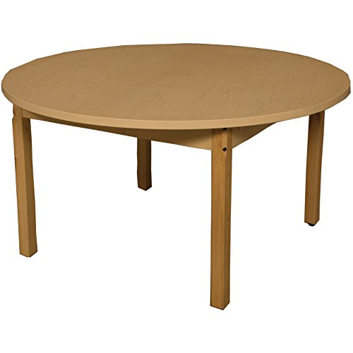 Round High Pressure Laminate - Wood Designs HPL42RND26 Round High Pressure Laminate Table with Hardwood Legs- 26