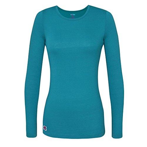 fort Long Sleeve T-Shirt/Underscrub Tee - S8500 - Teal Blue - XL ()
