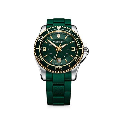 (Victorinox Men's 241606 Maverick Analog Display Swiss Quartz Green Watch)