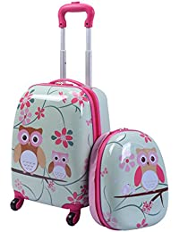 "Kids Carry On Luggage Set, 12"" & 16"" 2PCS Toddler Suitcase"