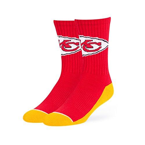 NFL Kansas City Chiefs Men's OTS Anthem Sport Sock, Team Color, Large