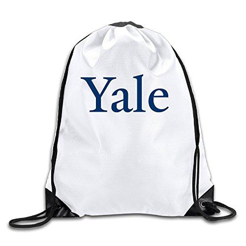 BYDHX Yale University Logo Drawstring Backpack Bag White (Prada Blue Sport Bag)