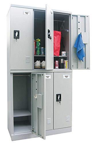 (Gray Wardrobe Locker, (3) Wide, (2) Tier Openings: 6, 36
