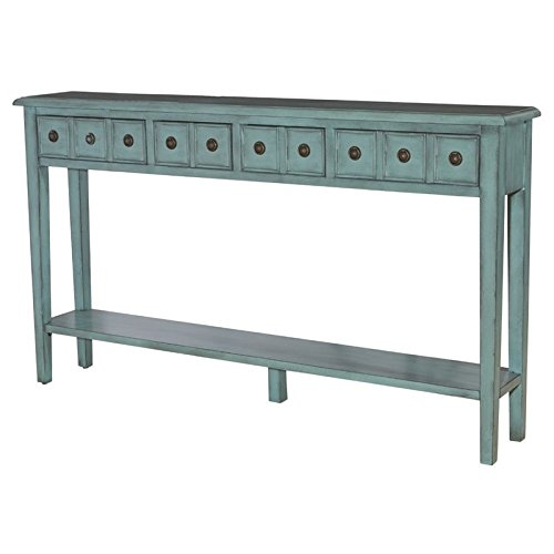 Powell Furniture 16A8213T Sadie Teal Long Console Table