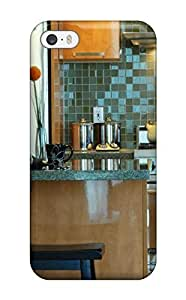AmandaMichaelFazio Snap On Hard Case Cover Contemporary Kitchen With Green Tile Backsplash And Stainless Steel Appliances Protector For Iphone 6 plus 5.5