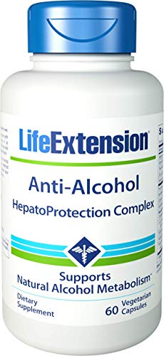 Life Extension Anti-Alcohol with HepatoProtection Complex, 60 capsules
