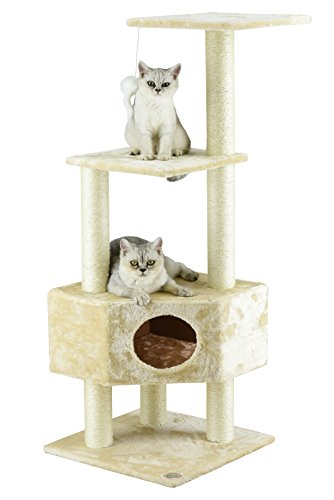 Cat Stand - Go Pet Club Cat Tree Beige Color