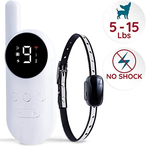 GoodBoy Mini No Shock Remote Collar for Dogs with Beep and Vibration Modes for Pet Behaviour Training - Waterproof & 1000 Feet Range - Suitable for Extra Small to Medium Dogs (5-15 lbs)
