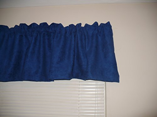 Drapery Curtain Window Valance, 52″ by 16″, in Navy Blue by JAS Drapery (2-pack) Review