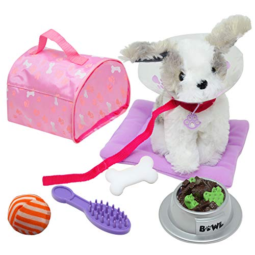 Image of NEW YORK DOLL COLLECTION Plush Puppy Dog Accessories Play Set