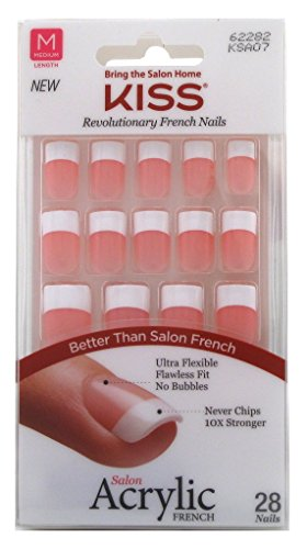 Kiss Salon Acrylic French Kit Sure Thing Medium (2 Pack)