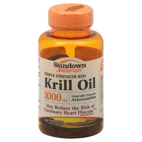 Sundown Naturals Krill Oil 1000mg Force Triple, gélules, 60 ch