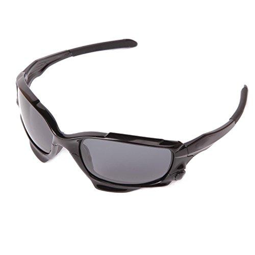 Walleva Polarized Lenses + Rubber + Bolt For Oakley Jawbone - Multiple Options Available (Black Lenses + Black Rubber + Black Bolt)