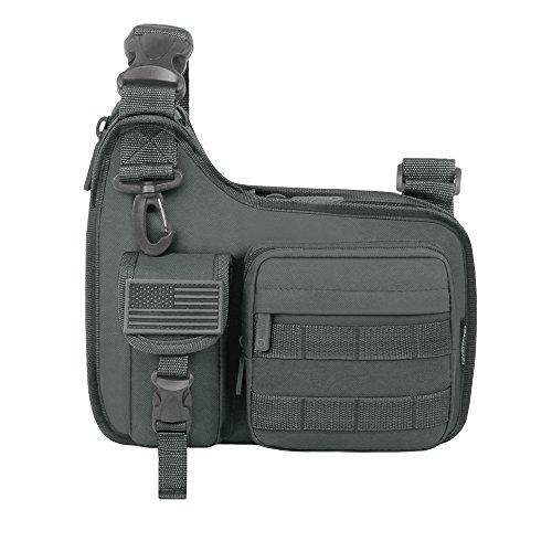 East West U.S.A RT518 Tactical Shoulder Sling Gun Range Holsters Cases Utility Bag, Digital Color/Black