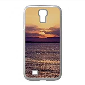 Sunset Boating Watercolor style Cover Samsung Galaxy S4 I9500 Case (Beach Watercolor style Cover Samsung Galaxy S4 I9500 Case)