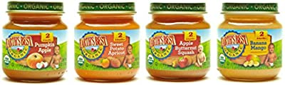 Earth's Best Stage 2 Baby Food Jars Fruit Antioxidant Blends Variety Pack, 12 Count from Hain Group (Earth's Best)